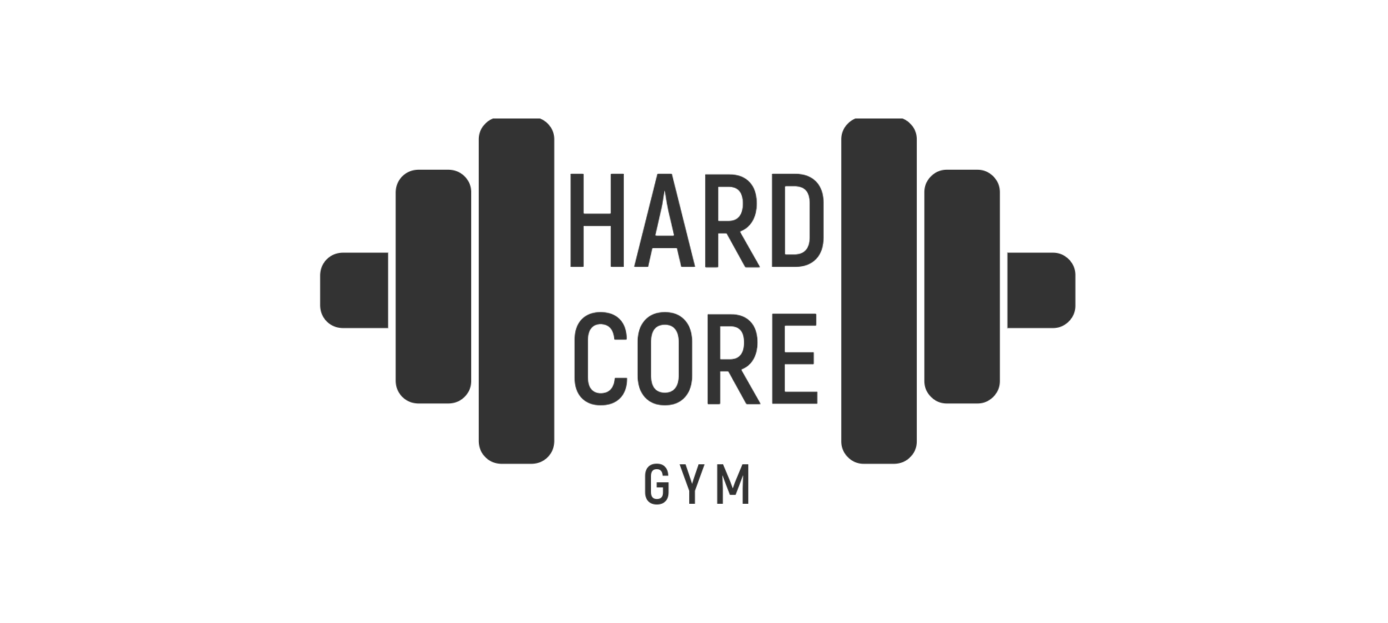 Hard Core Gym Logaster logo